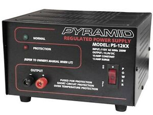 New Pyramid Ps12kx ps 12kx 10 Amp 13 8v Constant Regulated Ac dc Power Supply