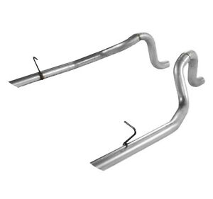 Flowmaster 15804 2 5 Rear Exit Prebent Tailpipes For 86 And 87 93 Ford Mustang
