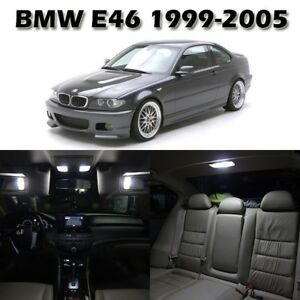 16 White Interior Led Light Package Full Set Lamp For Bmw E46 Sedan Wagon Coupe