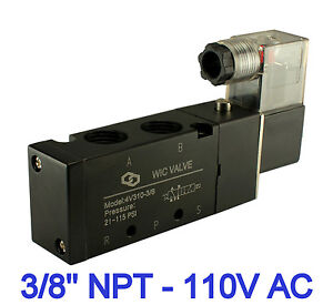 3 8 Inch Pneumatic 4 Way Electric Directional Control Solenoid Air Valve 110v Ac
