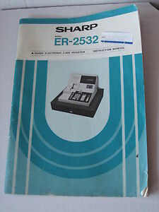 Sharp Electronic Cash Register Instruction Manuals Models Er 2350 Er 2532