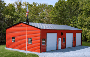 24x50 Steel Garage Storage Building Carport Free Del Installation