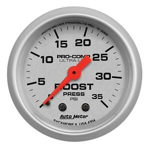 Auto Meter 4304 Ultra Lite 2 1 16 Mechanical Boost Gauge 0 35 Psi