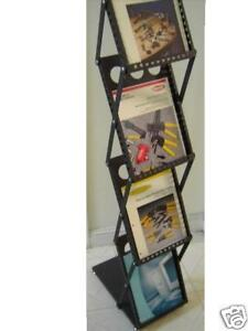4 Magazine Racks For Trade Show Literature Brochure Display