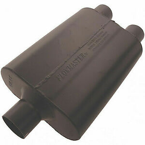 Flowmaster 9425472 Universal 44 Series Muffler 2 5 Center In 2 5 Dual Out