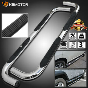 For 1999 2004 Jeep Grand Cherokee Chrome 3 Side Step Nerf Bars Running Boards