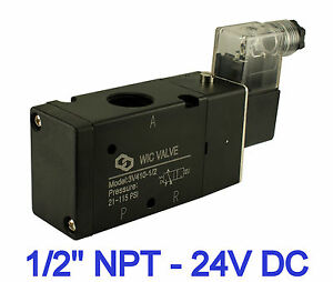 1 2 Inch 3 Way Directional Control Air Cylinder Electric Solenoid Valve 24v Dc