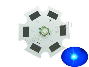 100pcs 20mm 1w 3w Cree Xpe Royal Blue 450nm 455nm Led Dc 3 1 3 9v 350 1000ma