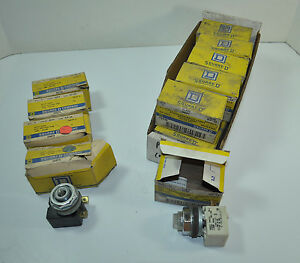 Square D Illuminated Pilot Light W Lens Lot Of 15 Model Kp 12 Kp 38 Class 9001