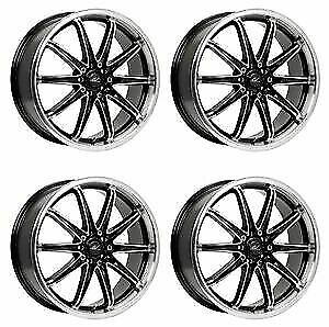 Icw Racing 214mb Tsunami 214mb 5650238 Qty 4 Rims 15x6 5 38mm 4x100 G Blk Mach