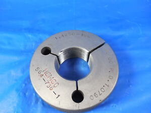 1 1 8 16 N 2 Thread Ring Gage No Go Only 1 1250 P d 1 0790 Machine Shop Tools