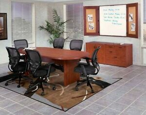 New Amber 6 Racetrack Conference boardroom meeting Room Office Table Set