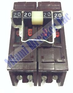 B22020ni Wadsworth Type B Circuit Breaker 2 Pole 20 20 Amp 240v