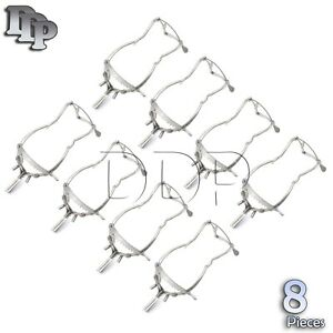 8 Pieces Of Whitehead Mouth Gag 6 Dental Veterinary Surgical Instruments