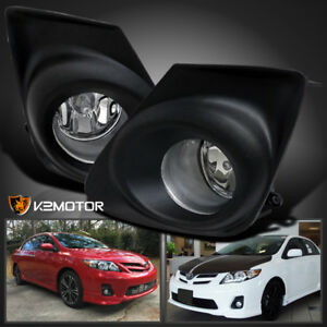 For 2011 2013 Toyota Corolla Ce Le Clear Bumper Fog Lights Lamps switch wiring