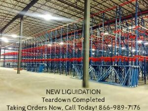 Drive in Pallet Rack 40 X 48 With A Capacity Between 1 000 2 500 Lb