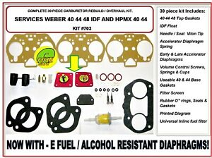 Weber 40 44 48 Idf Carburetor Rebuild Kit With Float Hpmx 40 44 Radke 703