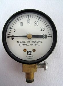 Vintage Us Gauge 0 30 Measure Pressure Gauge No 13004 1 New Old Stock
