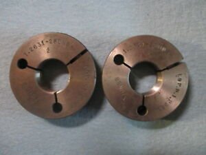 1 2631 28 Uns Special Size Thread Ring Gage Go No Go P d s Are 1 2387