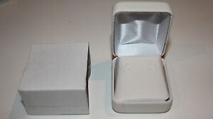 White Leather Jewelry Box For Earrings