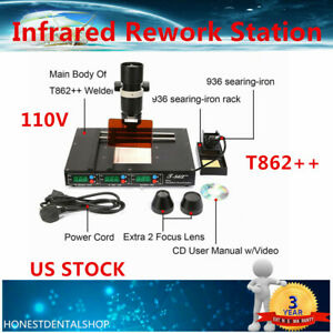 T862 Bga Smd Irda Infrared Rework Machine Smt Ir Desoldering Rework Station Us