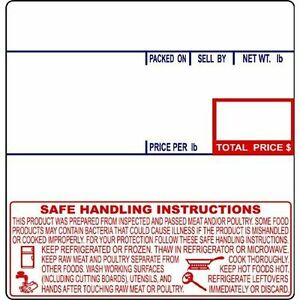 Cas Lst 8040 Printing Scale Label 58 X 60 Mm Upc safe Handling 12rolls