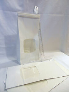 25 White Bakery Bags 4 3 4 X 2 1 2 X 9 1 2 Square Window 1 Lb Coffee Cookie