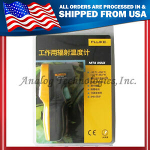 Brand New Fluke Mt4 Max Mini Handheld Laser Infrared Thermometer Gun 30 350c