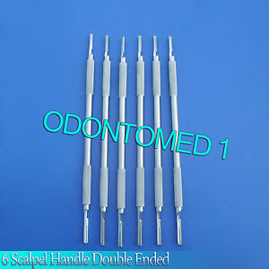 6 Round Form Double Ended Siegel Scalpel Handle 3 4 Surgical Dental