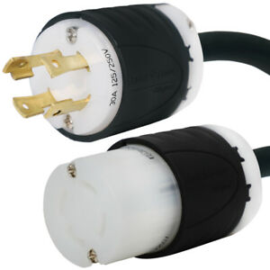 L14 30 Generator Cord 25 Foot 30a 125 250v 10 4 Soow Cable For 7500w
