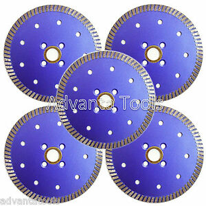 5pk 5 Premium Turbo Diamond Saw Blade For Granite Marble Stone