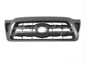 For Toyota 2005 2011 Tacoma Grille Black With Gray Frame