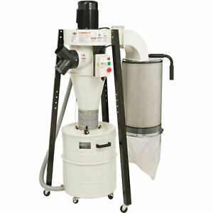 Shop Fox W1823 1 1 2 Hp 110v 220v Prewired 110v Portable Cyclone Dust Collector