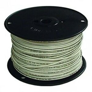 Encore 18 Awg Tfn Solid Copper Wire 500 Ft Spool In White