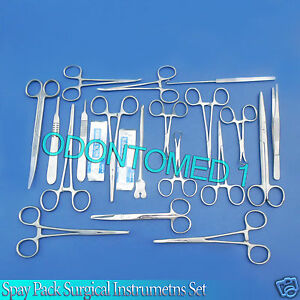 50 Pcs Spay Pack Kit Surgical Veterinary Instrument