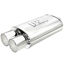 Magnaflow 14805 Universal 5 X 8 Oval Stainless Steel Muffler 2 25 In 3 5 Out