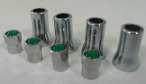 Tpms Green Top Nitrogen Tire Valve Stem Cap Sleeve Cover Chrome Set 20008 20018