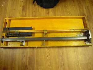 Rare Antique Chesterman 369 Height Gage 50 5 Industrial Steampunk Mechanical