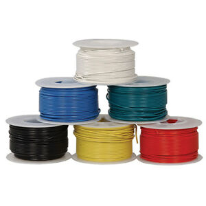 Jameco Valuepro Huwbun100ft6 22awg 6 Color Solid Tinned copper Hookup Wire 100