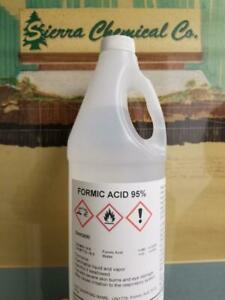 Formic Acid 95 1 Gallon Bee Keeping Etching Miticide Tanning 4 Quarts