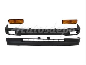 For Toyota 1995 1997 Tacoma 2wd Front Steel Bumper Black Valance Signal Light 4p