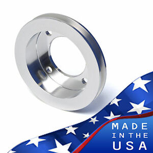 Crankshaft Pulley For Ford Racing Water Short Pump 1v V belt Billet Aluminum