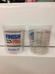 Finish Pro Quart Paint Mixing Cups 32oz Multi Purpose Cup Super Clear 25 Count
