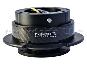 Nrg Steering Wheel Quick Release Kit Gen 2 5 Black Body With Carbon Fiber Ring