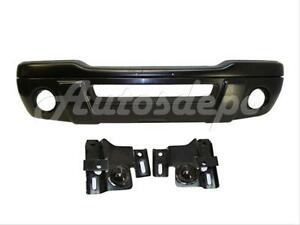 For 2001 2003 Ford Ranger Front Bumper Blk Valance Reinforce Bracket W fog Hole