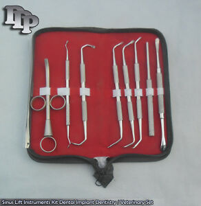 8 Pieces Sinus Lift Kit Dental Implant Dentistry Veterinary Instruments Sn 702