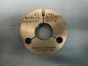 1 14 Ns Thread Ring Gage No Go Only 1 0 P d 9500 Machine Shop Tooling Tools