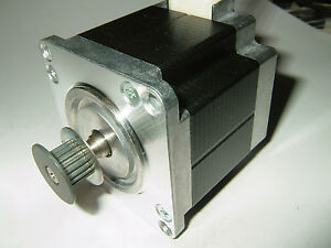 Nema 23 Stepper Motor W 2mm Pitch Pulley new Cnc Mill Robot Lathe Reprap P7v