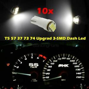 10x White T5 Smd Led Dash Instrument Panel Cluster Light 37 70 73 74 For Nis