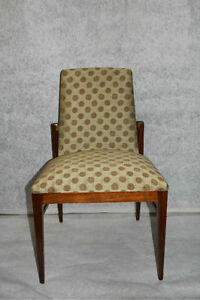 Mid Century Teak Wood Desk Vaniy Side Chair Circa 1940 S
